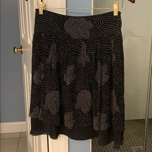 Light and airy black and white skirt